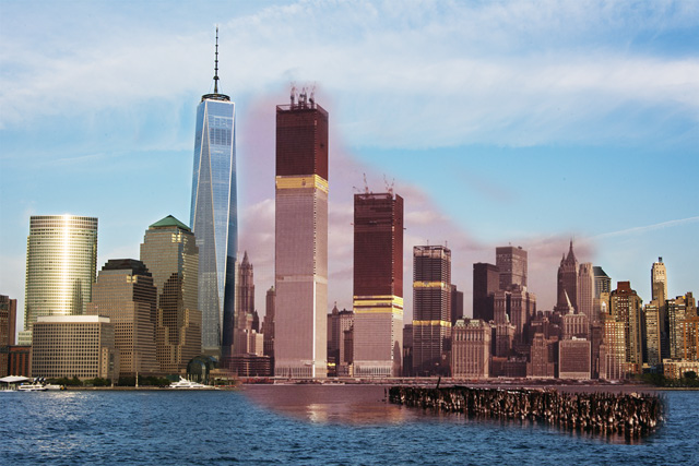 Twin Towers & One World Trade Center [1973, 2014]
